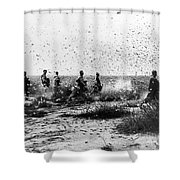 Morocco: Locusts, 1954 Shower Curtain