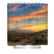 Morongo Valley Sunset Shower Curtain
