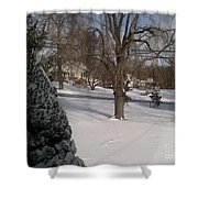 Morris County New Jersey Snowstorm Of 12-26-10 Shower Curtain