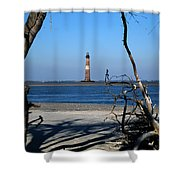 Morris Island Lighthouse Charleston Sc Shower Curtain