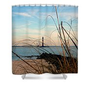 Morris Island Lighthouse In Charleston Sc Shower Curtain