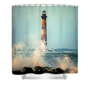 Morris Island Lighthouse Shower Curtain