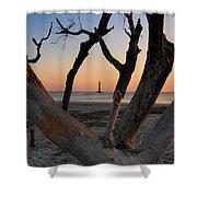 Morris Island Lighthouse Sunrise 2 Shower Curtain