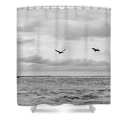 Morris Lighthouse Shower Curtain