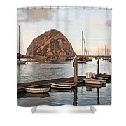 Morro Bay Small Pier Shower Curtain