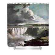 Morse: Niagara Falls, 1835 Shower Curtain