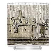 Morse Telegraph Machine, 1889 Shower Curtain