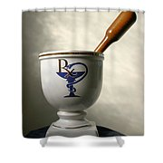 Mortar And Pestle Shower Curtain by Kristin Elmquist