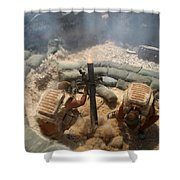 Mortar Crew In Action Shower Curtain