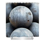 Mortar Shells Shower Curtain