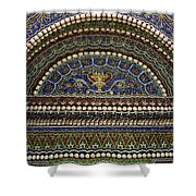 Mosaic And Shell Fountain Getty Villa Malibu California Shower Curtain