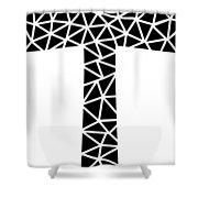 Mosaic Cross  Shower Curtain