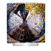 Mosaic Disk Shower Curtain