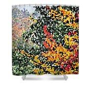 Mosaic Foliage Shower Curtain
