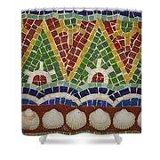 Mosaic Fountain Pattern Detail 4 Shower Curtain