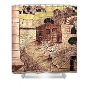 Mosaic Images At Petra Shower Curtain