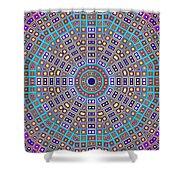 Mosaic Kaleidoscope  Shower Curtain