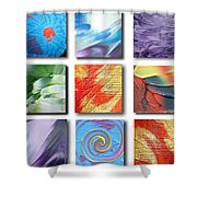 Mosaic Of Abstracts Shower Curtain