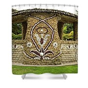 Mosaic Stone Bandstand In Anacortes Shower Curtain