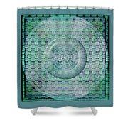 Mosaicea In Blue Shower Curtain