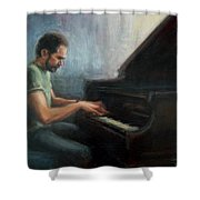 Mosci At The Piano Shower Curtain