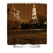 Moscow Cathedral Of Our Lady Of Smolensk Shower Curtain