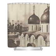 Moscow, Domes Of Churches In The Kremlin Shower Curtain