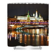 Moscow Evening, Overlooking The Kremlin. Shower Curtain