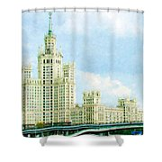 Moscow High-rise Building Shower Curtain