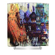 Moscow In The Rain Shower Curtain