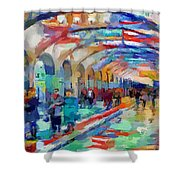 Moscow Metro Station Shower Curtain