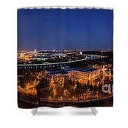 Moscow Night Panorama Shower Curtain