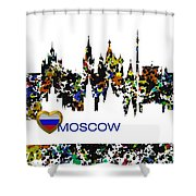 Moscow Skylines Shower Curtain