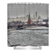 Moscow Winter Look Shower Curtain