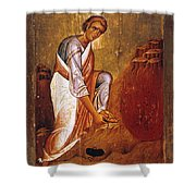 Moses Before Burning Bush Shower Curtain