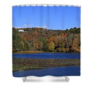 Moses Cone Manor House And Bass Lake Shower Curtain