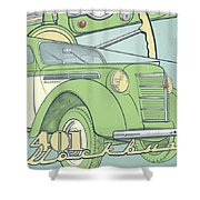 Moskvich 401 Shower Curtain