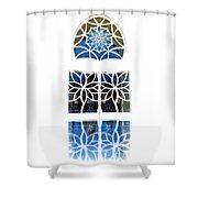 Mosque Foyer Window 1 White Shower Curtain