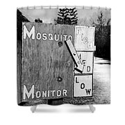Mosquito Monitor Shower Curtain