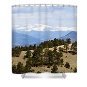 Mosquito Range Mountains From Bald Mountain Colorado Shower Curtain