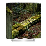 Moss Covered Fence Shower Curtain