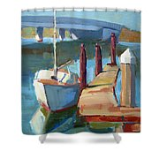 Moss Landing Morning Shower Curtain