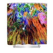 moss of Color Shower Curtain