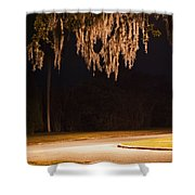 Mosssickles Silver Shower Curtain