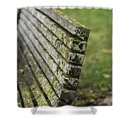 Mossy Bench Shower Curtain