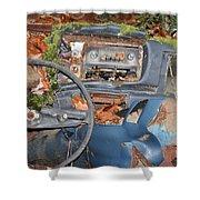 Mossy Datsun Shower Curtain