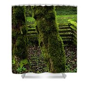 Mossy Fence Shower Curtain by Bob Christopher