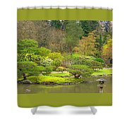 Mossy Garden Shower Curtain