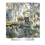 Mossy Live Oak Shower Curtain