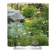 Mossy Path In Tahoe Shower Curtain